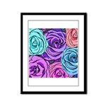 Abstract Colorful Roses Framed Panel Print
