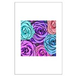 Abstract Colorful Roses Large Poster