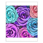 Abstract Colorful Roses Small Poster