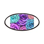 Abstract Colorful Roses Patches
