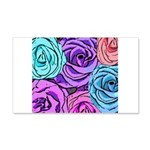 Abstract Colorful Roses 20x12 Wall Decal