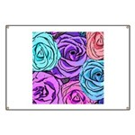 Abstract Colorful Roses Banner