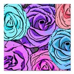 Abstract Colorful Roses Square Car Magnet 3