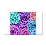 Abstract Colorful Roses Rectangle Car Magnet