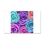 Abstract Colorful Roses Car Magnet 20 x 12