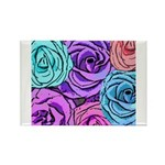 Abstract Colorful Roses Rectangle Magnet (100 pack
