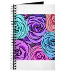 Abstract Colorful Roses Journal