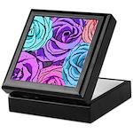 Abstract Colorful Roses Keepsake Box