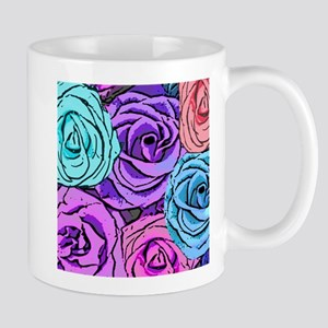 Abstract Colorful Roses Mug