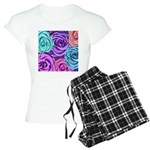 Abstract Colorful Roses Women's Light Pajamas