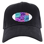Abstract Colorful Roses Black Cap