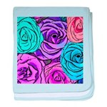Abstract Colorful Roses baby blanket