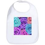 Abstract Colorful Roses Bib