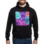 Abstract Colorful Roses Hoodie (dark)