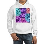 Abstract Colorful Roses Hooded Sweatshirt