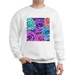 Abstract Colorful Roses Sweatshirt