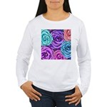 Abstract Colorful Roses Women's Long Sleeve T-Shir