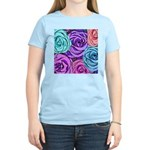 Abstract Colorful Roses Women's Light T-Shirt