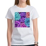 Abstract Colorful Roses Women's T-Shirt