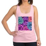 Abstract Colorful Roses Racerback Tank Top