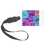 Abstract Colorful Roses Large Luggage Tag