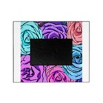 Abstract Colorful Roses Picture Frame
