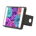 Abstract Colorful Roses Rectangular Hitch Cover