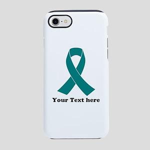 Teal Ribbon Awareness iPhone 7 Tough Case