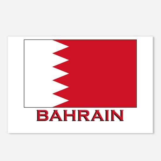 Bahrain Flag Merchandise Postcards (Package of 8)