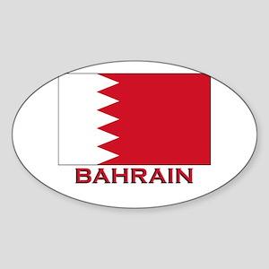 Bahrain Flag Merchandise Oval Sticker