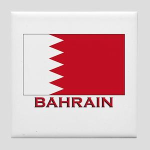 Bahrain Flag Merchandise Tile Coaster