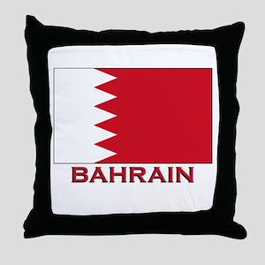 Bahrain Flag Merchandise Throw Pillow