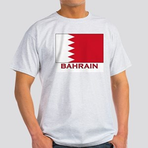 Bahrain Flag Merchandise Ash Grey T-Shirt