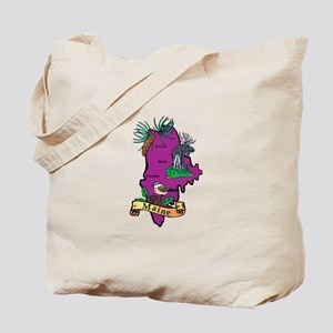 Maine Map Tote Bag