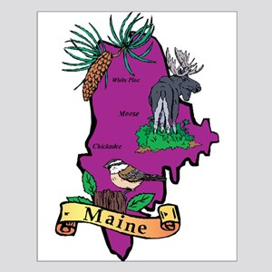 Maine Map Small Poster