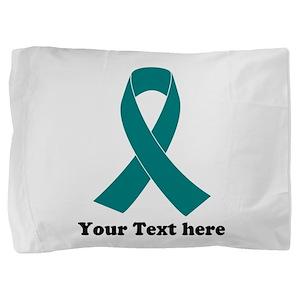 Teal Ribbon Awareness Pillow Sham