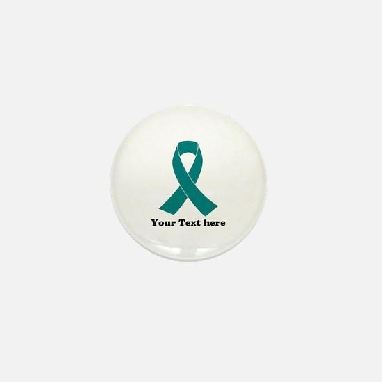 Teal Ribbon Awareness Mini Button