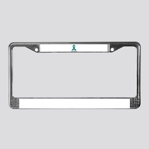 Teal Ribbon Awareness License Plate Frame