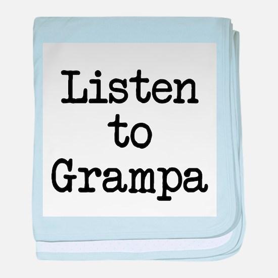 Listen to Grampa baby blanket