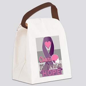 Chiari Malformation Hope Canvas Lunch Bag