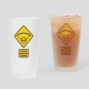Caution Low Flying Aircraft Drinking Glass