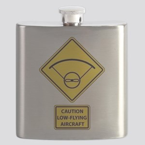 Caution Low Flying Aircraft Flask
