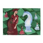 Red Queen to the Rescue 5'x7'Area Rug