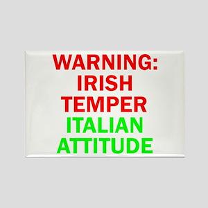 WARNINGIRISHTEMPER ITALIAN ATTITUDE Rectangle