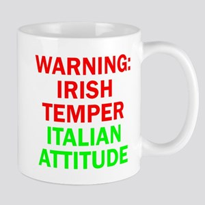 WARNINGIRISHTEMPER ITALIAN ATTITUDE Mug