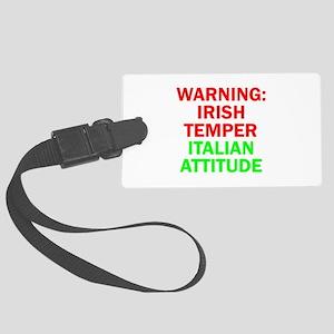 WARNINGIRISHTEMPER ITALIAN ATTITUDE Large Lugg