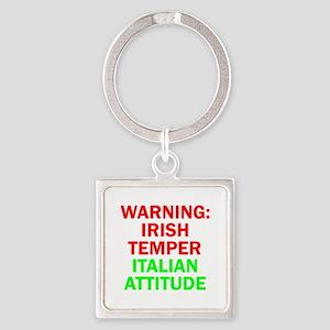 WARNINGIRISHTEMPER ITALIAN ATTITUDE Square Key