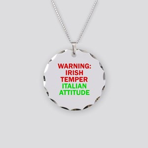 WARNINGIRISHTEMPER ITALIAN ATTITUDE Necklace C