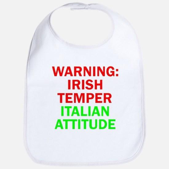 WARNINGIRISHTEMPER ITALIAN ATTITUDE.psd Bib