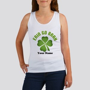 Personalized Erin Go Brah Clover Women's Tank Top